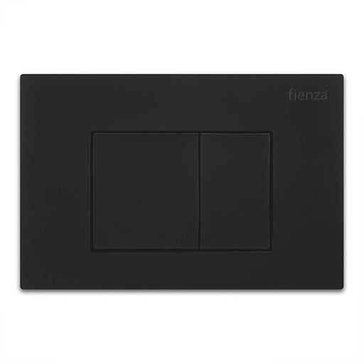 Fienza R&T Square Button Flush Plate - Matte Black - The Blue Space
