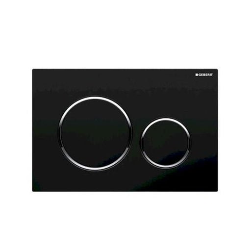 Geberit Sigma 20 Dual Flush Plate Black/Chrome - The Blue Space
