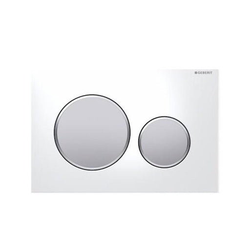 Geberit Sigma 20 Dual Flush Plate Matte White/Matte Chrome - The Blue Space