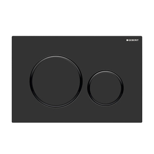 Geberit Sigma 20 Dual Flush Plate Matte Black - The Blue Space