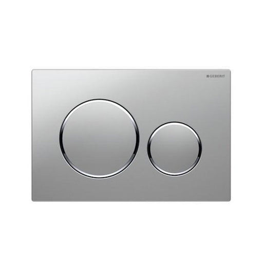 Geberit Sigma 20 Dual Flush Plate Matte Chrome - The Blue Space
