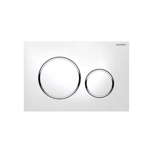Geberit Sigma 20 Flush Plate White/Chrome - The Blue Space