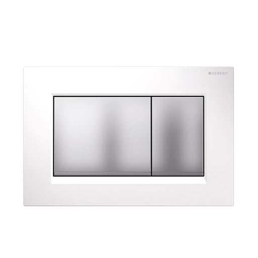 Geberit Sigma 30 Dual Flush Plate Matte White/Matte Chrome - The Blue Space