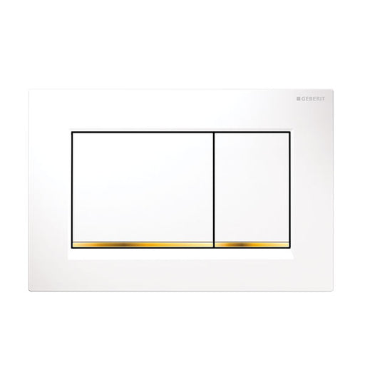 Geberit Sigma 30 Dual Flush Plate White/Gold - The Blue Space