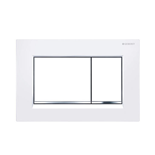 Geberit Sigma 30 Dual Flush Plate White - The Blue Space