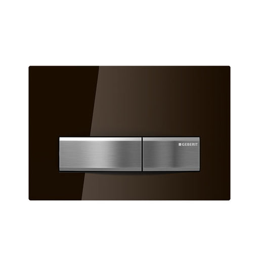 Geberit Sigma 50 Glass Flush Plate Umbra Brown - The Blue Space