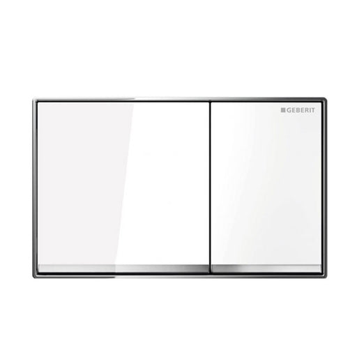 Geberit Sigma 60 Glass Dual Flush Plate White - The Blue Space
