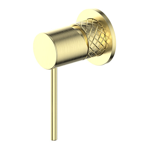 Greens Textura Shower/Wall Mixer Brushed Brass - The Blue Space
