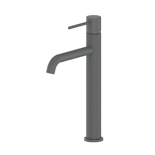 Greens Textura Tower Basin Mixer Gunmetal - The Blue Space