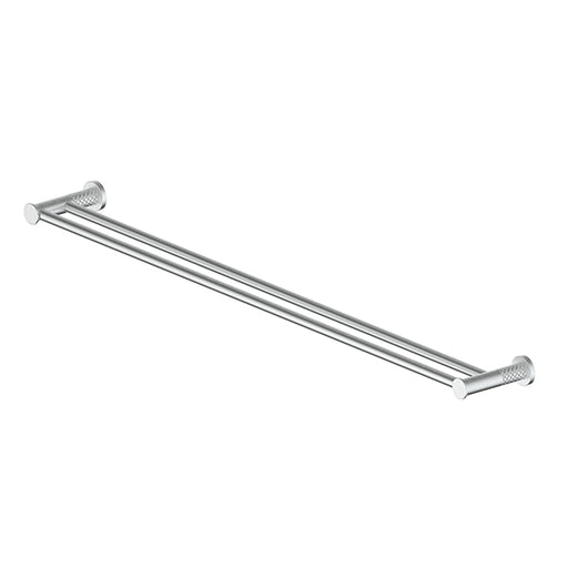 Greens Textura Double Towel Rail 762mm Brushed Stainless - The Blue Space