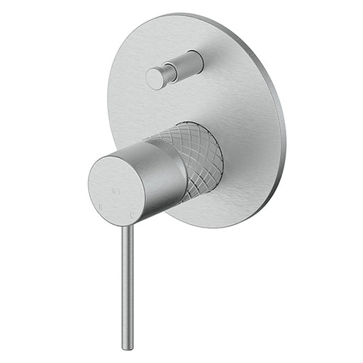 Greens Textura Shower/Bath Diverter Mixer Brushed Stainless - The Blue Space