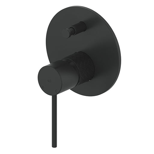 Greens Textura Shower/Bath Diverter Mixer Matte Black - The Blue Space