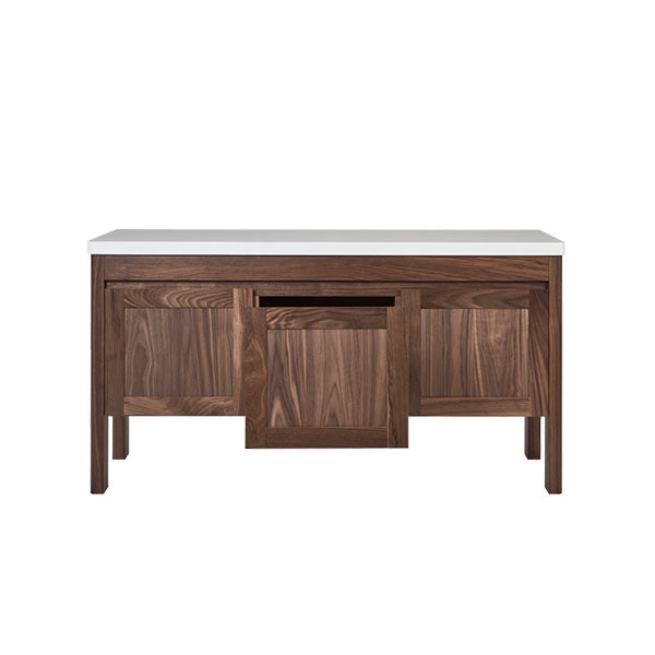 Loughlin Furniture Freo Curved Walnut Vanity - The Blue Space