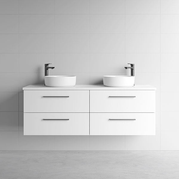 Marquis Marq Wall Hung All-Drawer Vanity 1500mm Double Bowl - The Blue Space