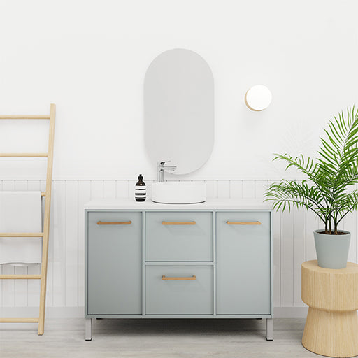 Marquis Palm Floor Standing Vanity - The Blue Space
