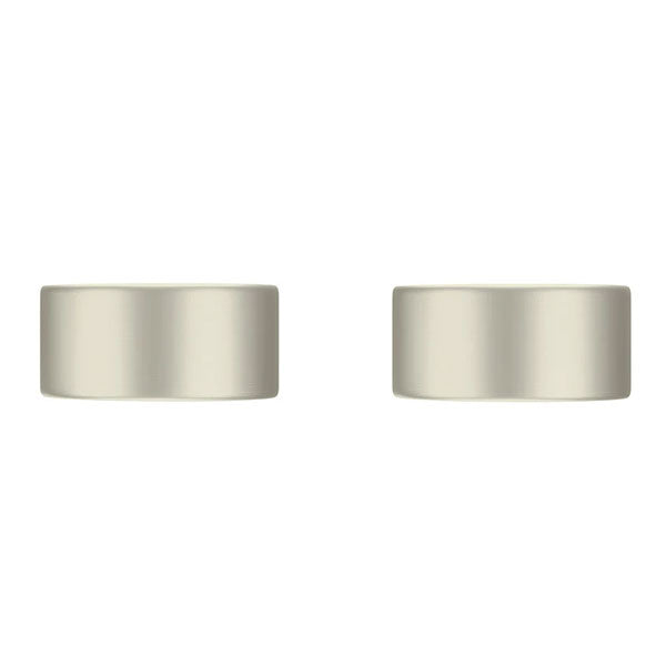 Meir Circular Wall Taps Brushed Nickel - The Blue Space