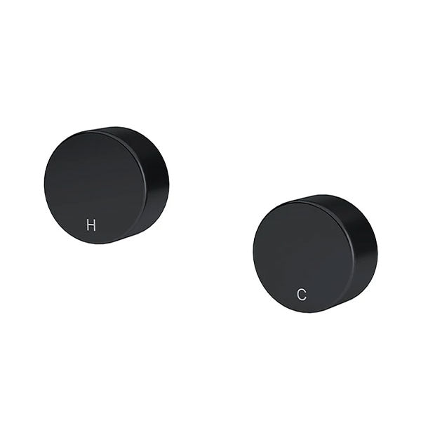 Meir Circular Wall Taps Matte Black - The Blue Space