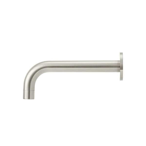 Meir Round Curved Basin Wall Spout Brushed Nickel - The Blue Space