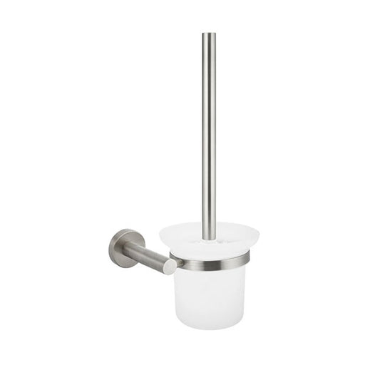 Meir Round Toilet Brush and Holder Brushed Nickel - The Blue Space
