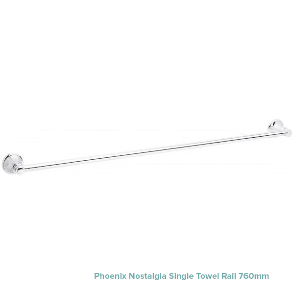 Phoenix Nostalgia Single Towel Rail 760mm at The Blue Space