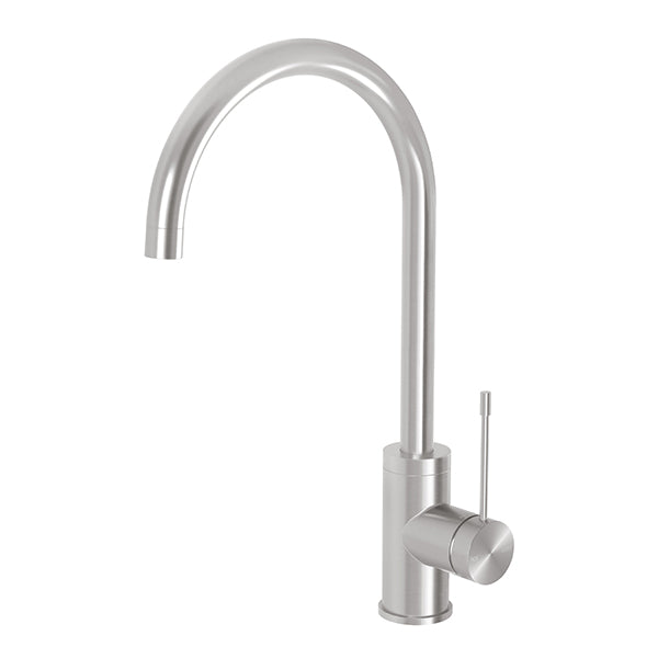 Phoenix Vivid Slimline 316 Stainless Steel Sink Mixer 200mm Gooseneck - The Blue Space