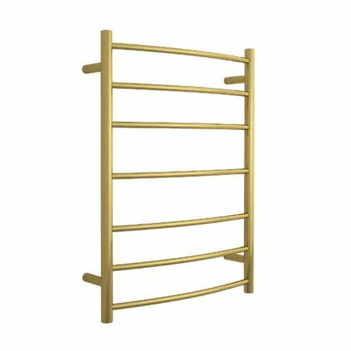 Thermogroup 7 Bar Heated Towel Rail Polished Gold - The Blue Space