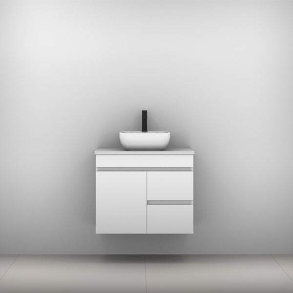 Timberline Bargo Wall Hung Vanity with Silksurface Top & Basin 750mm Single Bowl - The Blue Space