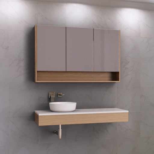Timberline Splice Wall Hung Vanity 900mm - 1800mm With Above Counter Basin - The Blue Space