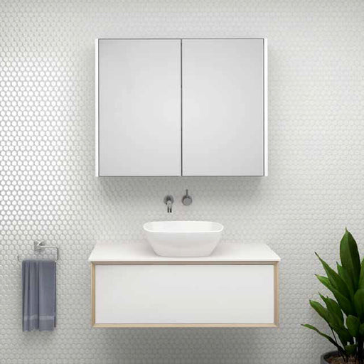 Timberline Stockholm Wall Hung Vanity 600mm - 1800mm With Above Counter Basin - The Blue Space