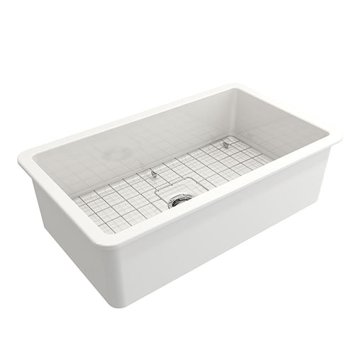 Turner Hastings Cuisine 81 x 48 Inset/Undermount Fine Fireclay Sink - The Blue Space