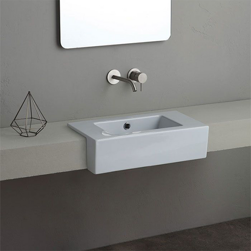 Turner Hastings Isa Fine Fireclay Semi-Recessed Basin - The Blue Space