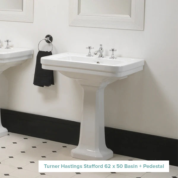 Turner Hastings Stafford 62 x 50 Basin + Pedestal at The Blue Space