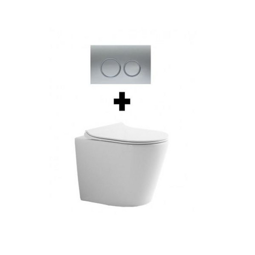 Turner Hastings Ticino Rimless In-Wall Toilet Suite with Buttons - The Blue Space