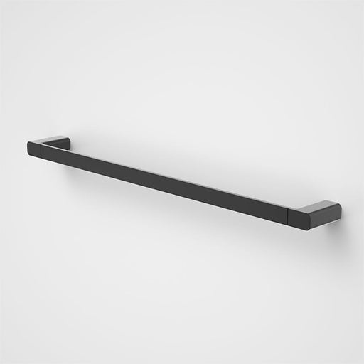 Caroma Luna Single Towel Rail Satin Black 630mm - The Blue Space