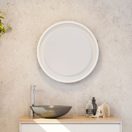 Timberline Brooklyn Mirror 600mm in white online at The Blue Space