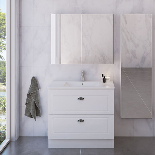 Timberline Nevada Classic Plus Floor Standing Vanity with Ceramic Basin Top 750mm - 1200mm online at The Blue Space