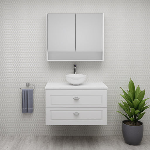 Timberline Nevada Plus Classic Wall Hung Vanity shaker drawers at The Blue Space