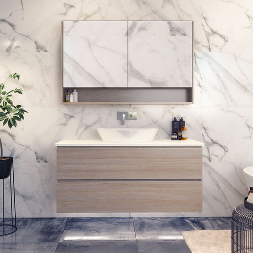 Timberline Nevada Plus Wall Hung Vanity 750mm - 1800mm with Above Counter Basin online at The Blue Space