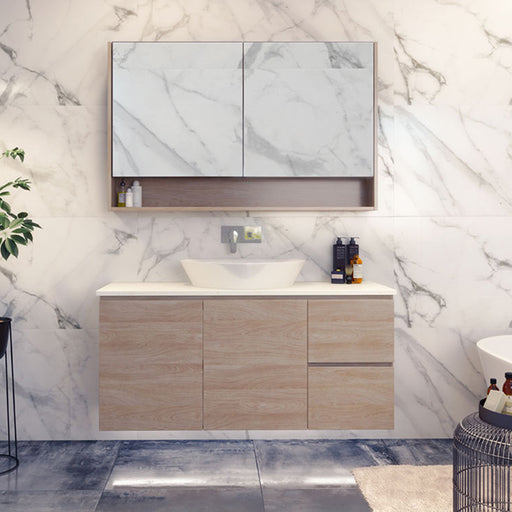 Timberline Nevada Wall Hung Vanity 750mm - 1800mm with Above Counter Basin online at The Blue Space