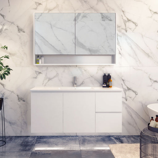 Timberline Nevada Wall Hung Vanity 750mm - 1800mm with Alpha Ceramic Top online at The Blue Space