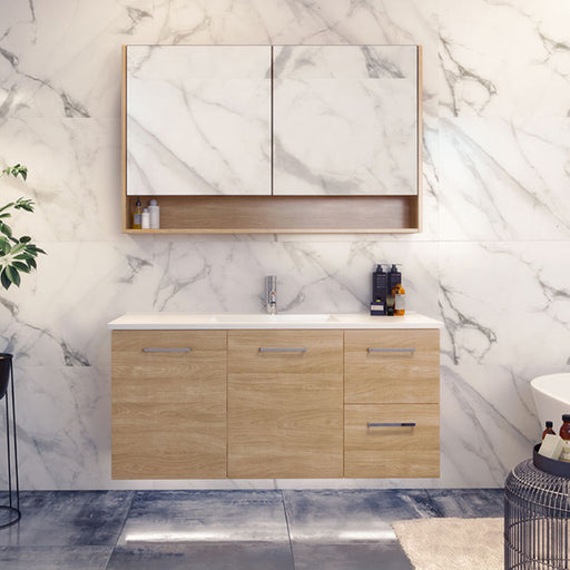 Timberline Nevada Wall Hung Vanity 750mm - 1800mm with Regal Acrylic Top online at The Blue Space