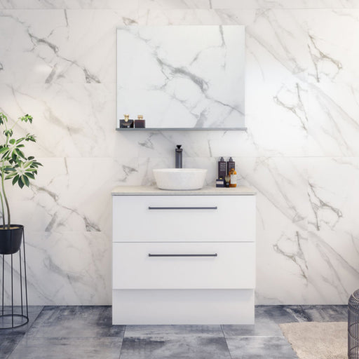 Timberline Oxbow Vanity 600mm - 1800mm with kickboard, Stone Top & Above Counter Basin