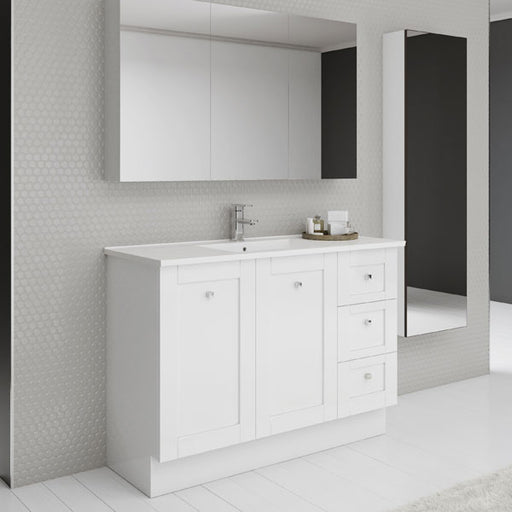 Timberline Victoria Floor Standing Vanity 750mm - 1500mm with Alpha Ceramic Top at The Blue Space