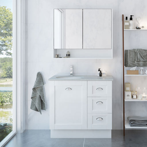 Timberline Victoria Floor Standing Vanity 750mm - 1800mm with Under Counter Basin online at The Blue Space
