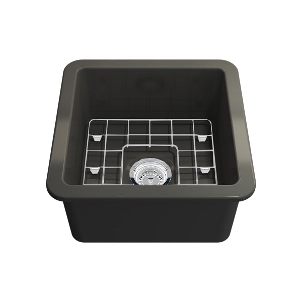 Turner Hastings Cuisine 46 x 46 Inset/Undermount Fine Fireclay Sink - Matte Black