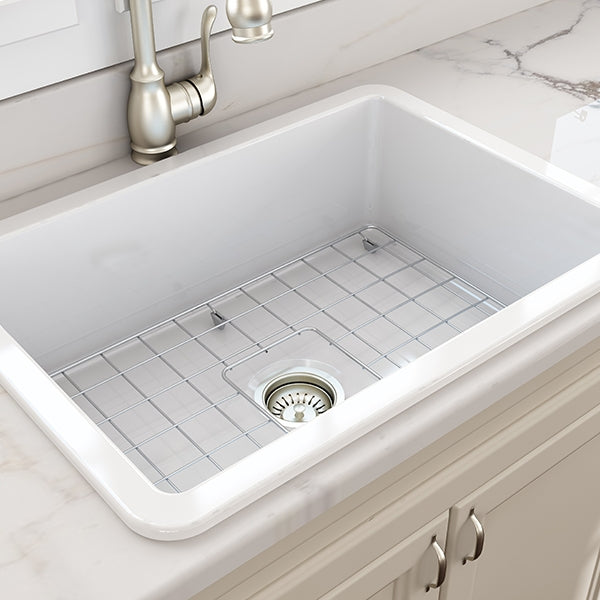 Turner Hastings Cuisine 48 x 68 Inset Fine Fireclay Sink - The Blue Space