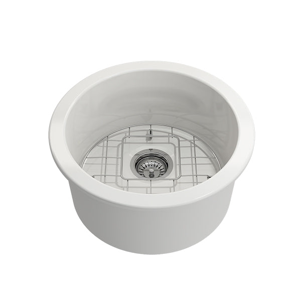 Turner Hastings Cuisine Round 47 Inset/Undermount Fine Fireclay Sink