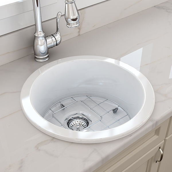 Turner Hastings Cuisine Round 47 Inset Fine Fireclay Kitchen Sink - The Blue Space