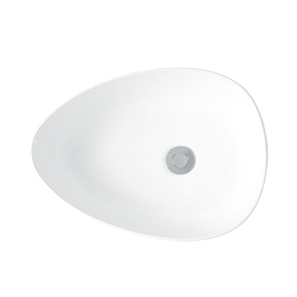 Turner Hastings 47 x 34 Fino Thin Rimmed Fine Fireclay Basin top view - The Blue Space