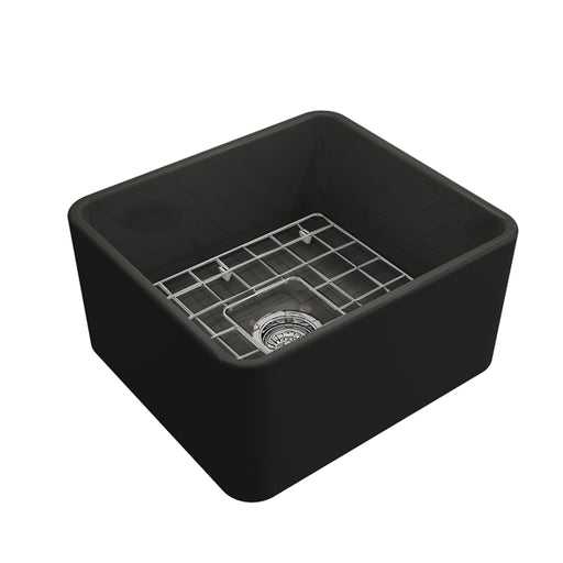 Turner Hastings Novi 500 Flat Front Fine Fireclay Butler Sink - Matte Black online at The Blue Space